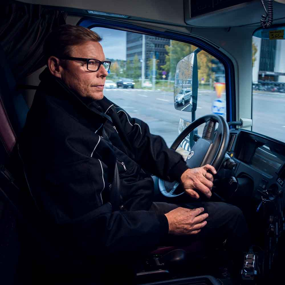 Torbjörn Forsman driving the new Volvo FMX