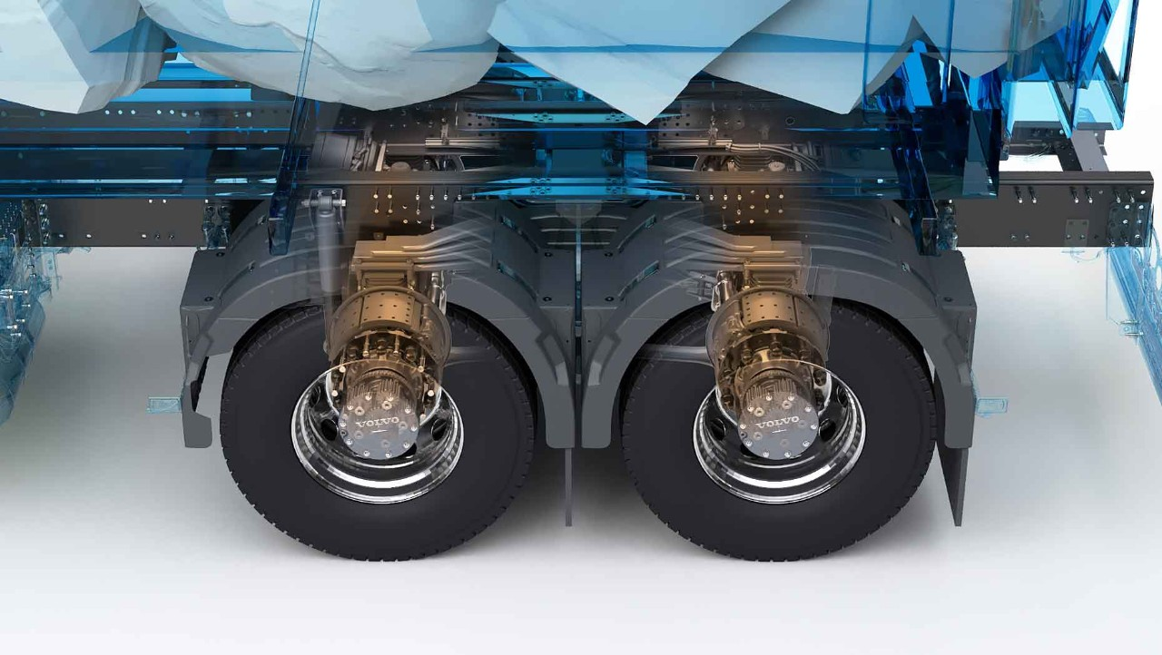 3D graphic illustration of new drive axle